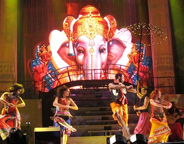 Dancers perform the Ganesha dance