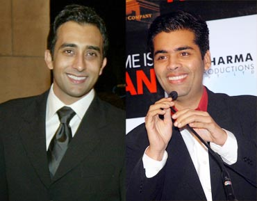 Rahul Khanna and Karan Johar