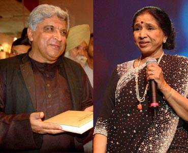 Javed Akhtar and Asha Bhosle