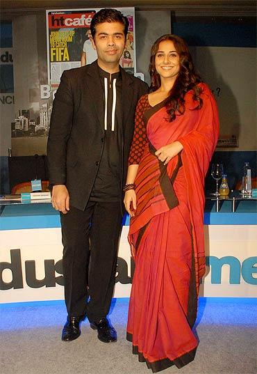 Karan Johar and Vidya Balan