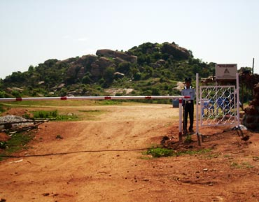 An entrance to the proposed site