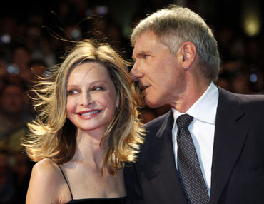 Calista Flockhart and Harrison Ford
