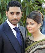Abhishek Bachchan and Aishwarya Rai at the London premiere of Raavan
