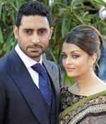 Abhishek Bachchan and Aishwarya Rai at the London premiere of Raavan