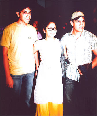 Junaid, Kiran Rao and Aamir Khan