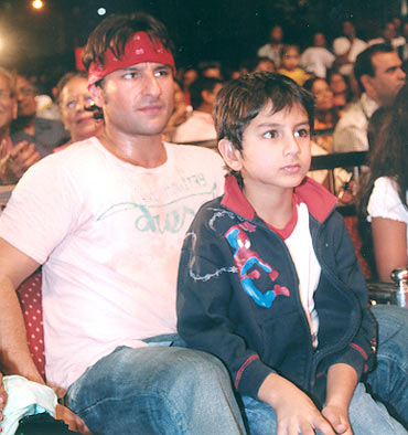 Saif Ali Khan and Ibrahim