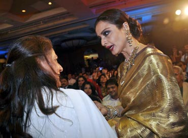 Jaya Bachchan and Rekha