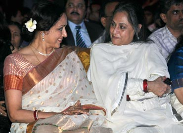 Hema Malini and Jaya Bachchan
