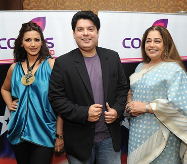 Sonali Bendre, Sajid Khan and Kirron Kher