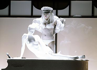 Lady Gaga performs during a gala