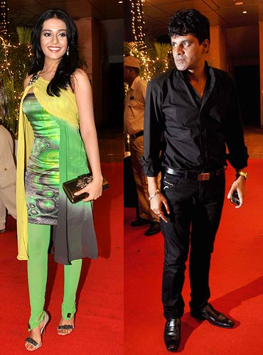 Amrita Rao and Manoj Bajpai