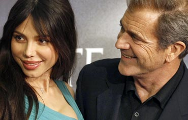 Oksana Grigorieva and Mel Gibson during happier times