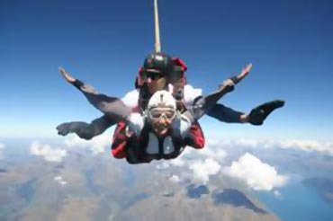 Sonam's skydiving experience in Queenstown, New Zealand