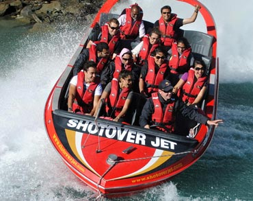 Sonam Kapoor and Imran Khan enjoying the Shotover and jet boat ride in Queenstown, New Zealand
