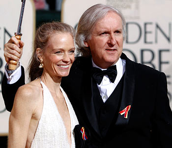 James Cameron with wife Suzy
