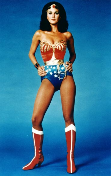 Lynda Carter in the 1970s Wonder Woman TV series