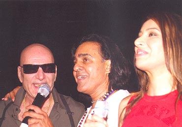 Feroz Khan, Biddu and Sophie Chaudhary