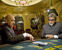 Ben Kingsley and Amitabh Bachchan in Teen Patti