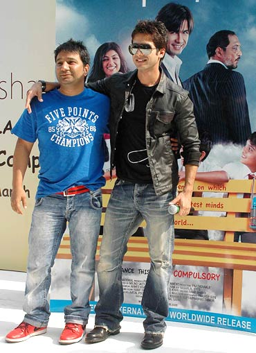 Shahid Kapoor and Ahmed Khan