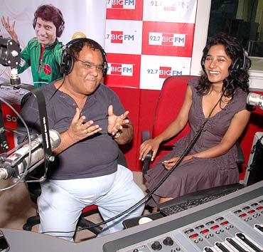 Satish Kaushik and Tannishtha Chatterjee
