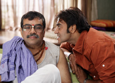 Paresh Rawal and Ajay Devgn