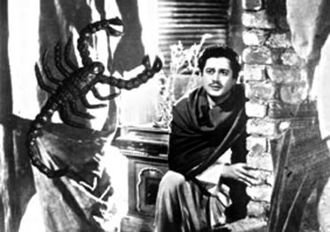 Guru Dutt in a scene from Pyaasa