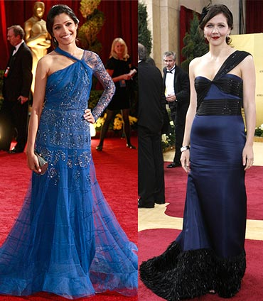Freida Pinto and Maggie Gyllenhaal
