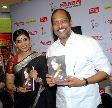 Sonali Kulkarni and Nana Patekar at the book launch