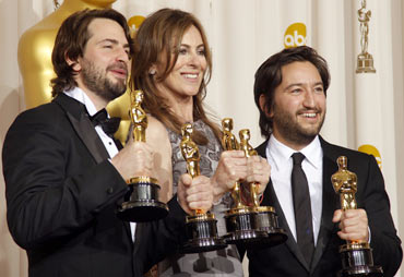 Writer Mark Boal, director Kathryn Bigelow and producer Greg Shapiro