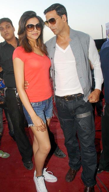 Deepika Padukone and Akshay Kumar