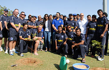 The Rajasthan Royals team