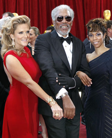 Lori McCreary, Morgan Freeman and daughter Morgana