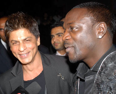 Shah Rukh Khan and Akon