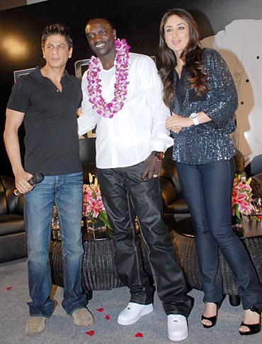 Shha Rukh Khan, Akon and Kareena Kapoor
