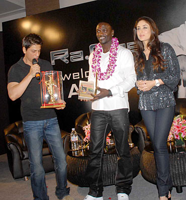 Shah Rukh Khan, Akon, Kareena Kapoor