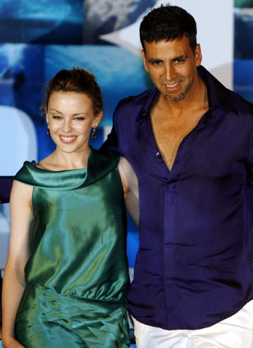 Kylie Minogue and Akshay Kumar