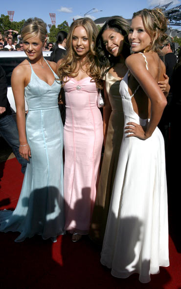 Members of the Australian pop group Girlband