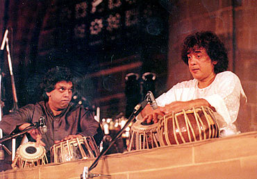 Zakir Hussain with brother Fasal Qureshi