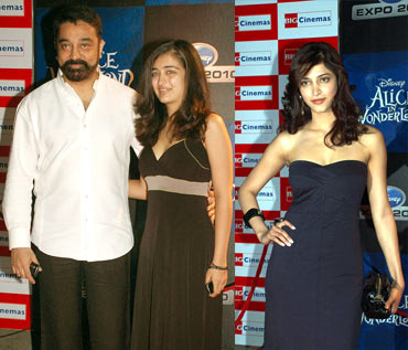 Kamal Hassan, Akshara and Shruti
