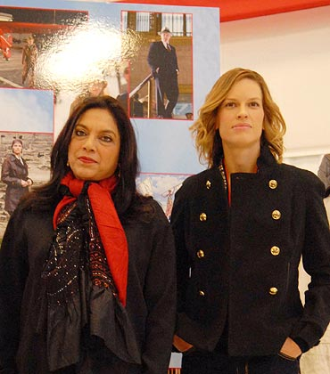 Mira Nair and Hillary Swank