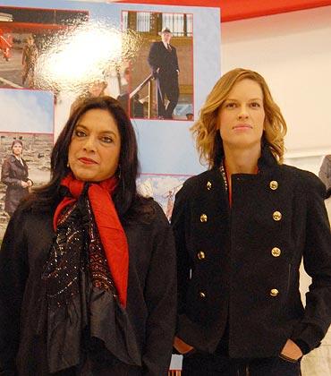 Mira Nair and Hillary Swank