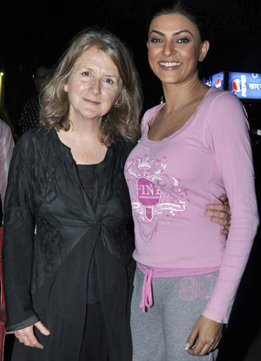 Sally Potter and Sushmita Sen