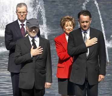 Scott Gould, Elizabeth Dole, Steven Spielberg and Tom Hanks
