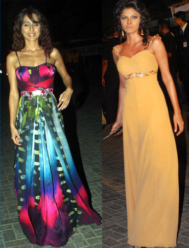 Anusha Dandekar and Sherlyn Chopra