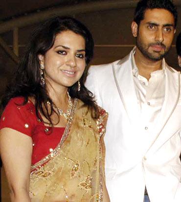 Shaina NC and Abhishek Bachchan