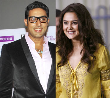 Abhishek Bachchan and Preity Zinta