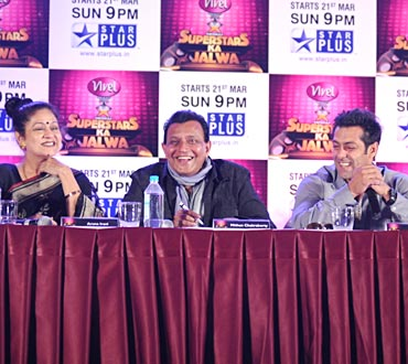 Aruna Irani, Mithun and Salman Khan