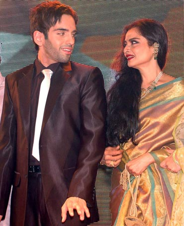 Luve Sinha and Rekha