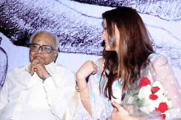 K Balachander and Aishwarya Rai Bachchan