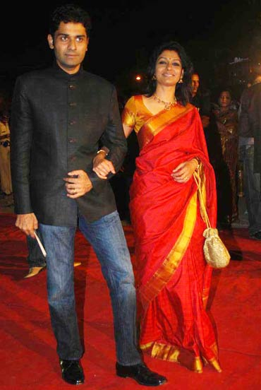 Husband Subodh Maskara and Nandita Das